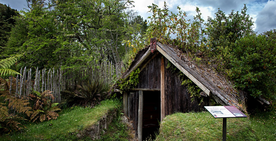 Buried Village - Maori Whare (House)