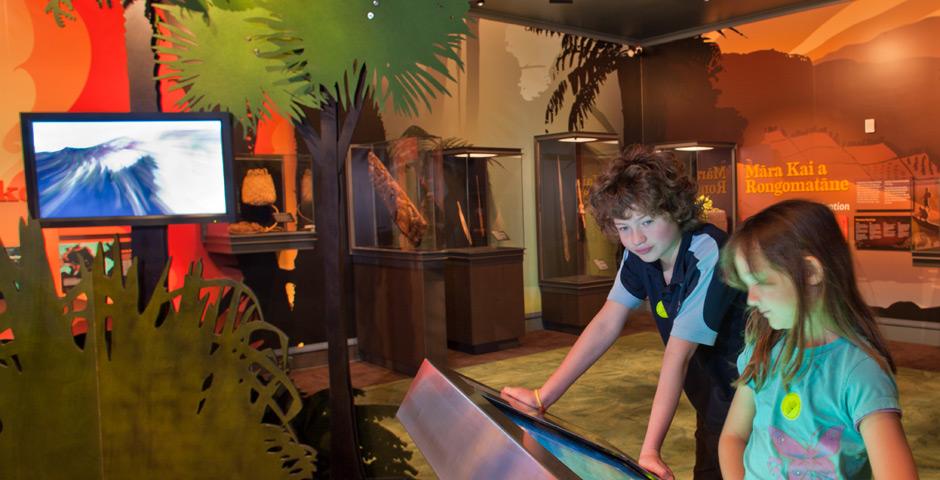 Kids at Rotorua Museum